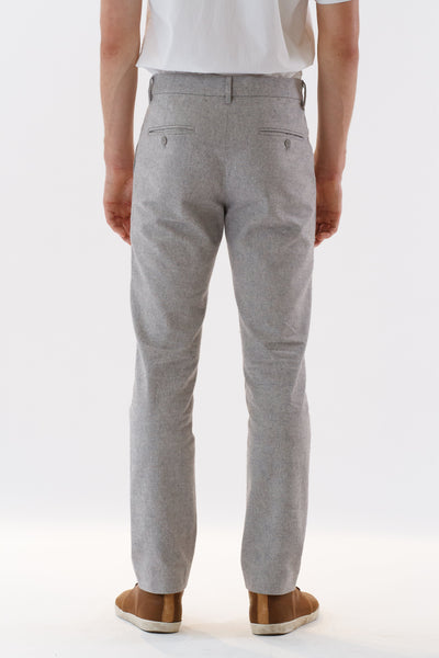 Mens Grey Suit Pants back view