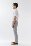 Mens Grey Suit Pants side view