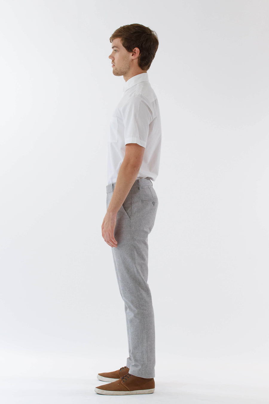 Mens Grey Suit Pants front view