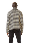 Mens Houndstooth Motorcycle Jacket back view