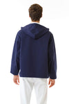 Mens Navy Anorak back view