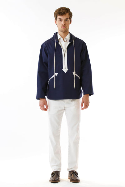 Mens Navy Anorak front view