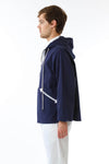 Mens Navy Anorak side view