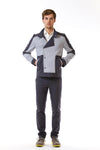 Mens Notched Motorcycle Jacket front view