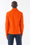 Mens Orange Recycled Mackintosh Jacket back view