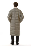 Mens Oversized Long Coat back view