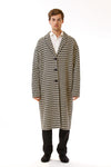 Mens Oversized Long Coat front view