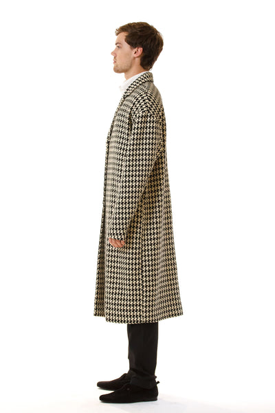 Mens Oversized Long Coat side view