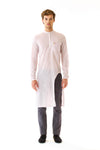 Mens Cutout Long Woven Shirt front view