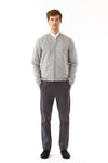 Mens Grey Hemp Bomber front view