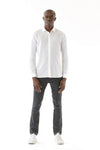 Mens Soft/Sheer button shirt front view