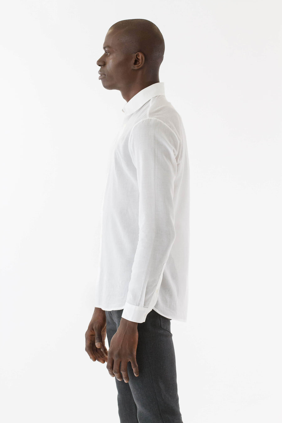 Mens Soft sheer button shirt