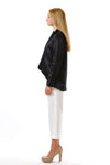 Womens Black Hempsilk Blazer side view