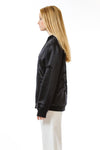 Womens Tufted Silk Bomber side view