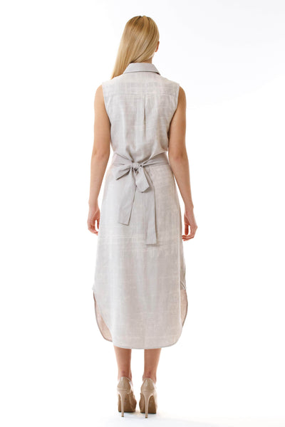 Womens Bleach Printed Panel Shirt Dress back view