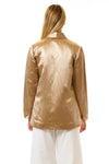 Womens Gold Hempsilk Blazer back view