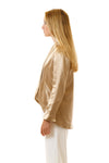 Womens Gold Hempsilk Blazer side view