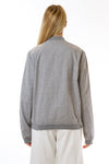 Womens Grey Hemp Bomber back view