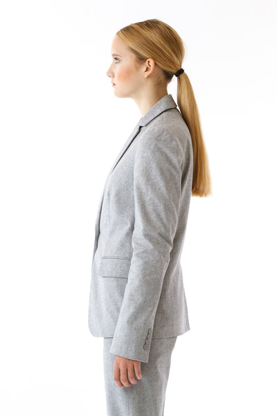 Womens Grey Suit Jacket side view