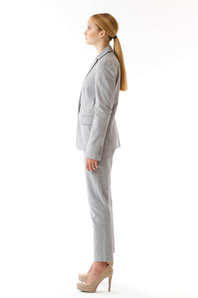 Womens Grey Suit Pants side view