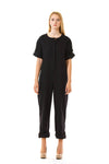 Womens Black Jumpsuit front view