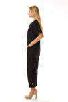 Womens Black Jumpsuit side view