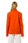 Womens Orange Recycled Mackintosh Jacket back view