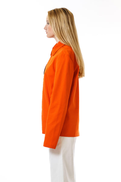 Womens Orange Recycled Mackintosh Jacket side view