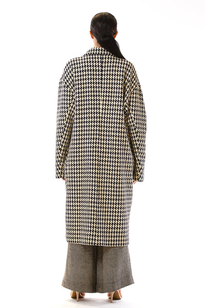 Womens Oversized Long Coat back view