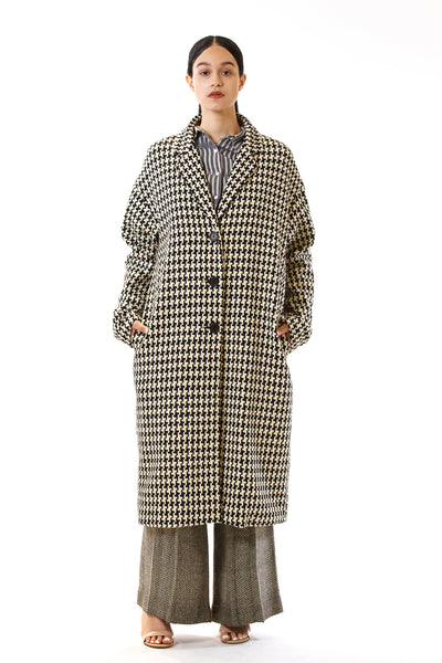 Womens Oversized Long Coat front view