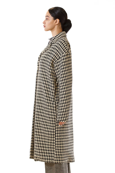 Womens Oversized Long Coat side view