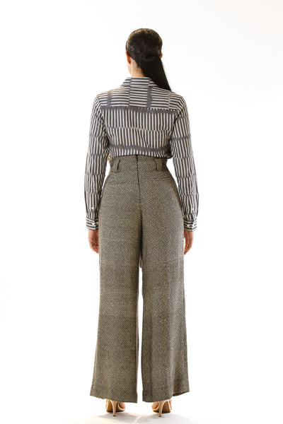 Womens Tie Waisted Pants back view