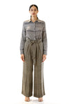 Womens Tie Waisted Pants front view