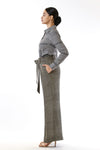 Womens Tie Waisted Pants side view