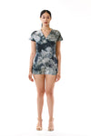Womens Watercolor Printed Romper front view