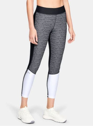 UA LEAGGINGS JACQUARD ANKLE CROP