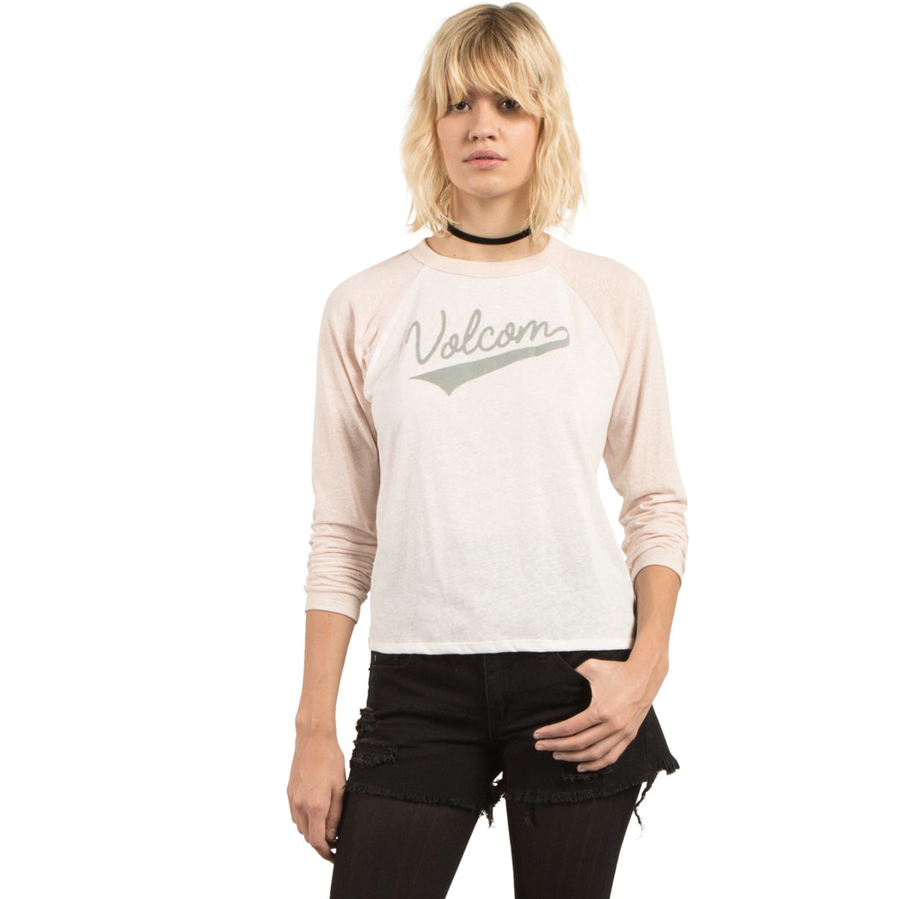 VOLCOM CHAND. TRUE TO THIS RAGLAN FEM.