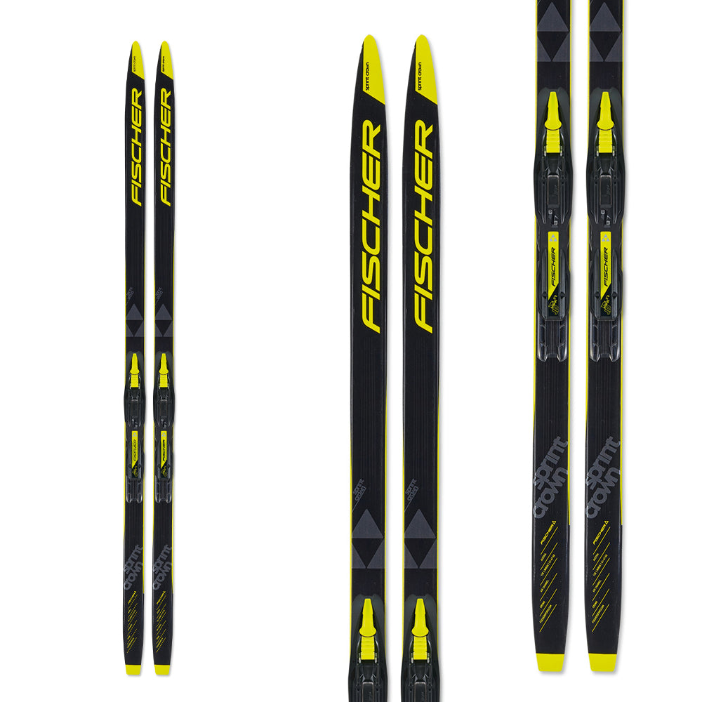 FISCHER SKI SPRINT CROWN IFP + FIXATION TOUR STEP IN JR
