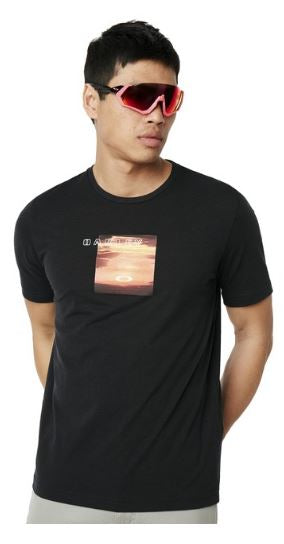 OAKLEY T-SHIRT SUNSET PRINT
