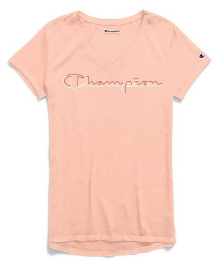 CHAMPION T-SHIRT AUTHENTIC WASH FEM.