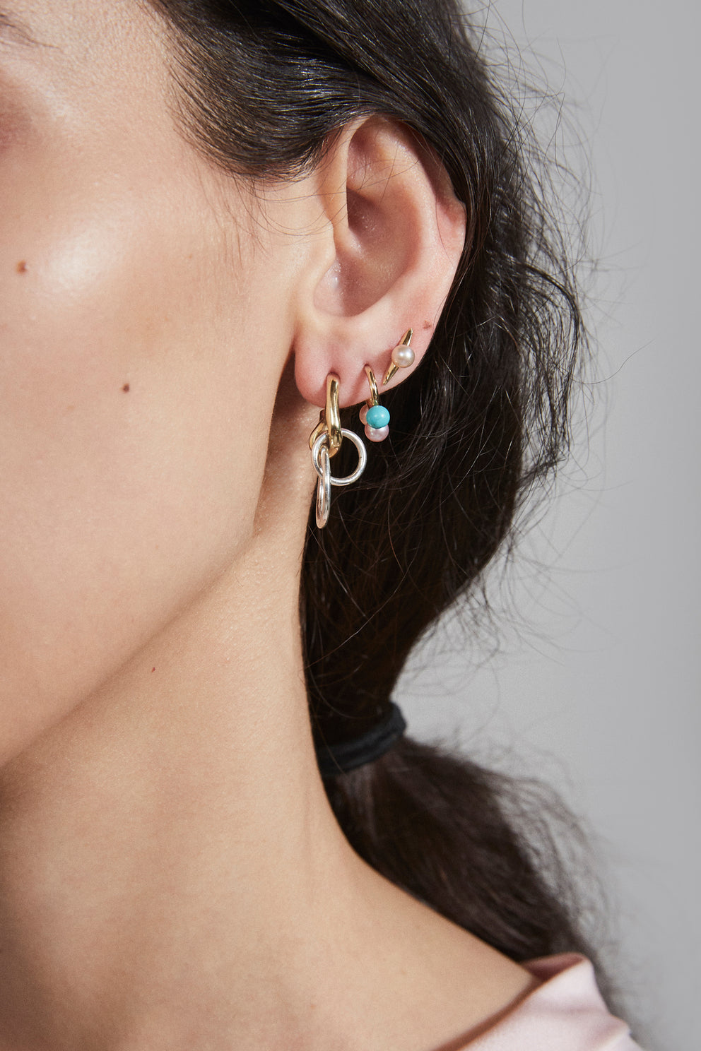 Quarry Naax Earring w/ pink pearl