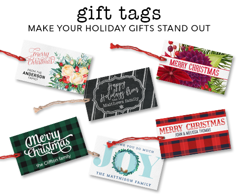 Christmas gift tags & holiday tags to wrap up your gifts in style!