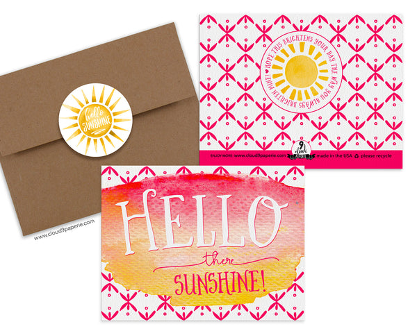 Hello There Sunshine Encouragement Greeting Card