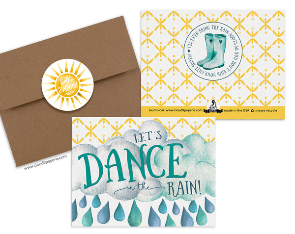 Dance in the Rain Encouragement Greeting Card