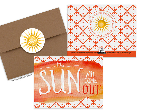 The Sun Will Come Out Encouragement Greeting Card