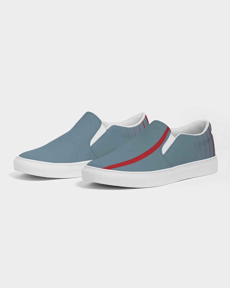 Red Stripe Men's Slip-On Canvas Shoe