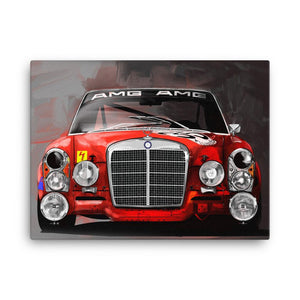 Mercedes AMG Red Pig Canvas