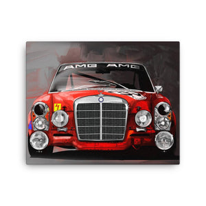 Mercedes AMG Red Pig Wall Art