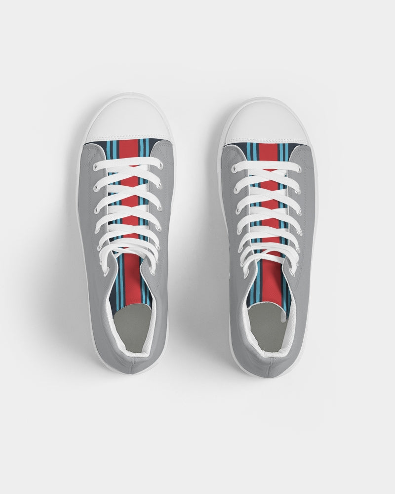 Martini Racing Livery Shoe Men's Hightop Canvas Shoe