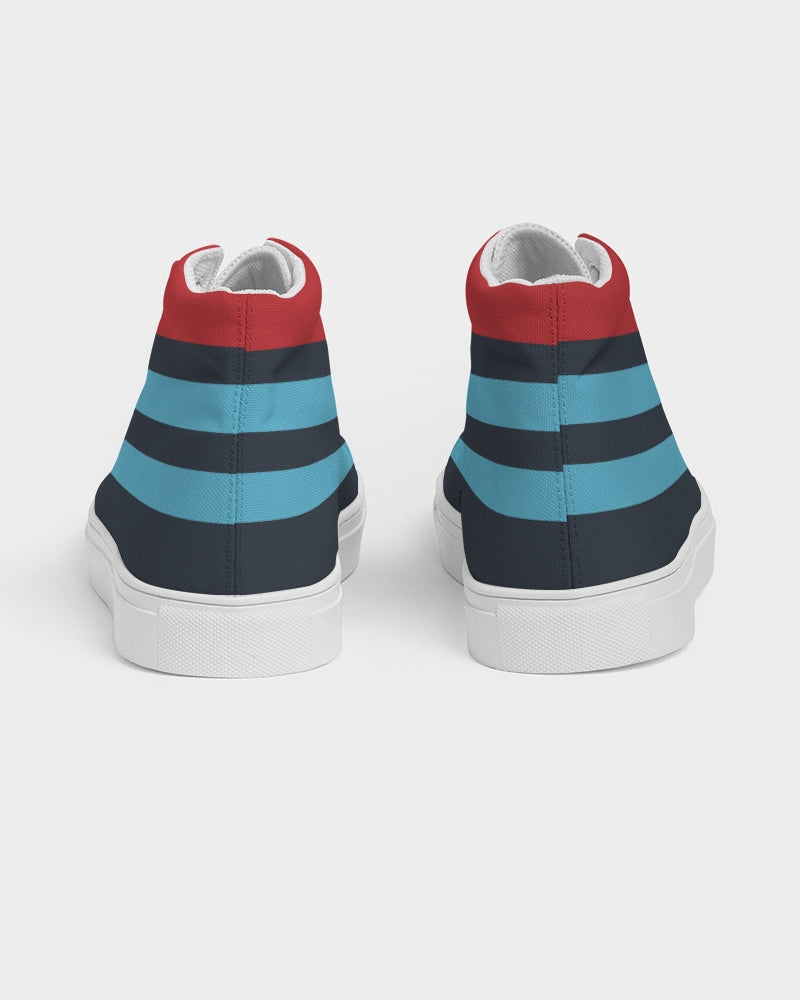 Martini Racing Livery Shoe Women's Hightop Canvas Shoe